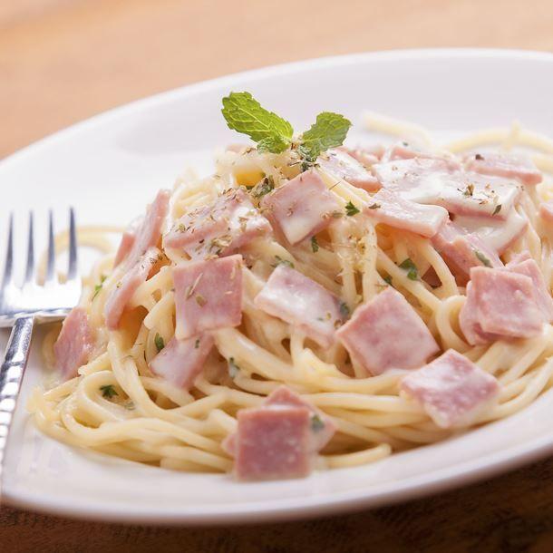 Spaghettis jambon façon carbonara