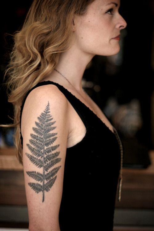 Healed Fern by Tattoo artist Alice Carrier