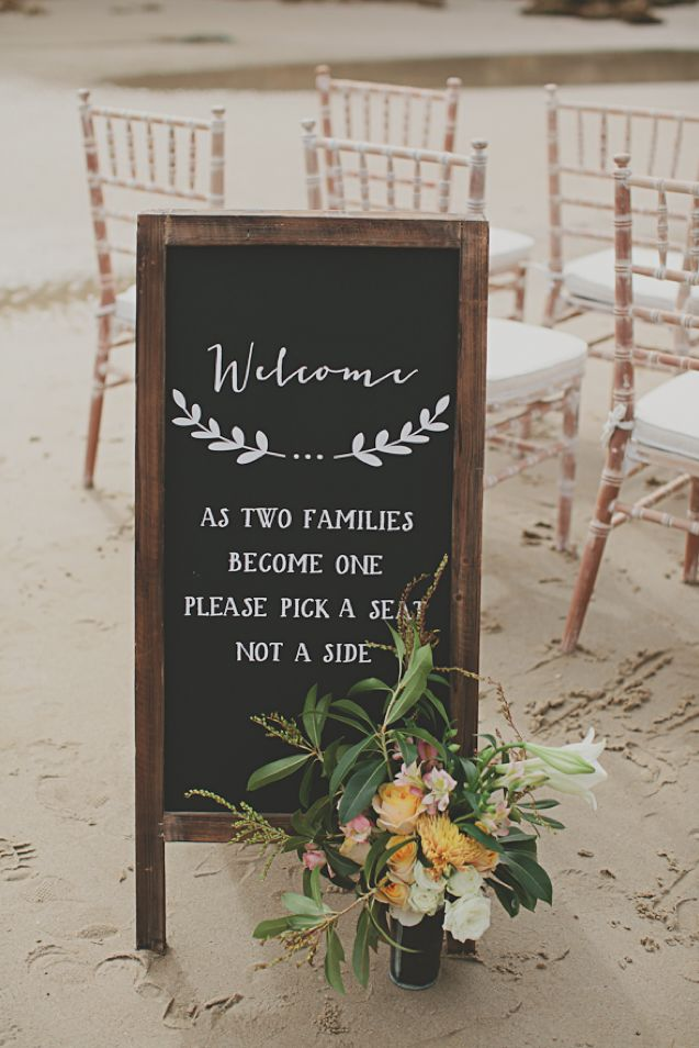 Indie styled shoot on the beach at Byron Bay | see more on http://burnettsboards.com/2013/09/bohemian-beach-wedding/