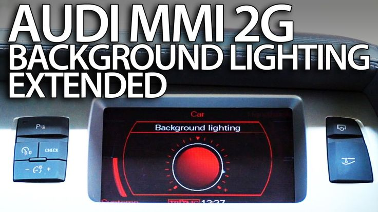 How to enable extended #ambient interior #lighting #Audi #MMI 2G #A4 #A5 #A6 #A8 #Q7 #cars Multimedia Interface