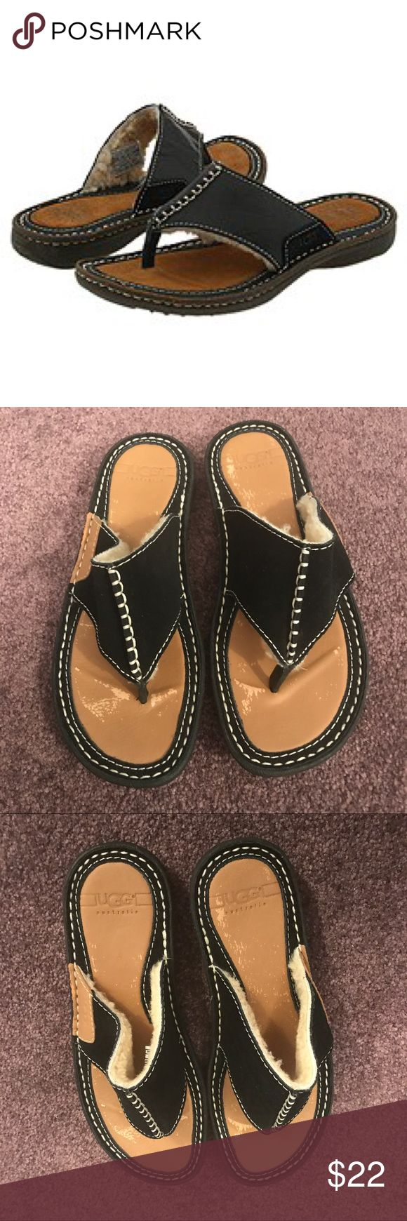 Ugg Australia Shearling Sandals Worn once. In great condition. Slight rubbing as shown ! UGG Shoes Sandals