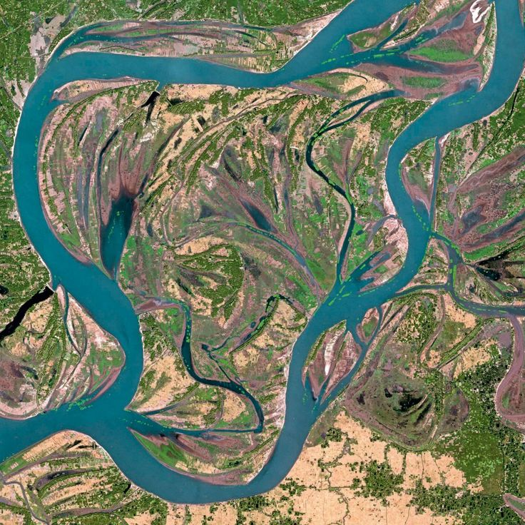 """Earth from Space"" - India, Assam: Brahmaputra River"