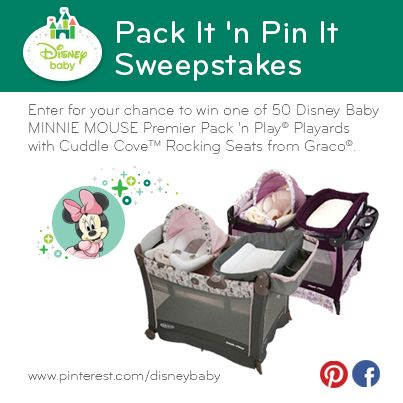Make your Pinterest page ear-resistibly stylish with help from #MinnieMouse. Enter the @Disney Baby Pack It 'n Pin It Sweepstakes for your chance to win one of 50 Minnie Mouse Premier Pack 'n Play Playards with Cuddle Cove Rocking Seats from Graco! #DisneyBabyPackNPin