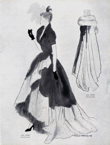 Jean Dessès 1947 Evening Dress and Coat, Bernard Blossac