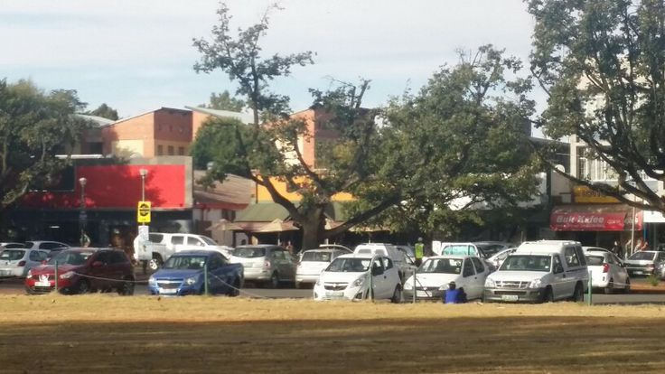 Shops opposite Paljas Backpackers lodge Potchefstroom south Africa