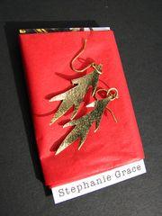 leaf earrings, custom, handmade, earrings