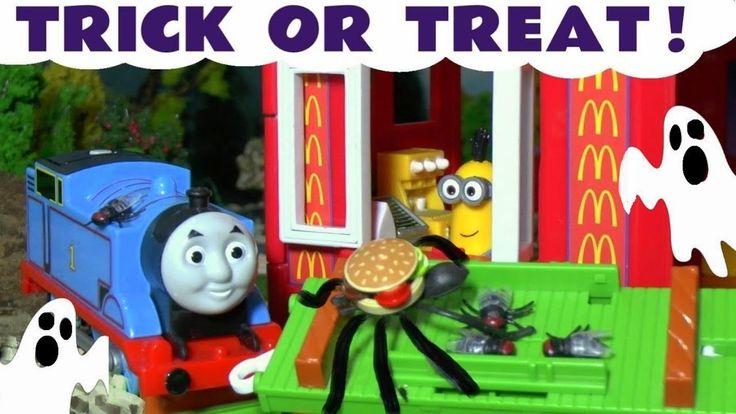 Thomas The Tank Engine Halloween Minions McDonalds Drive Thru Trick Or T...