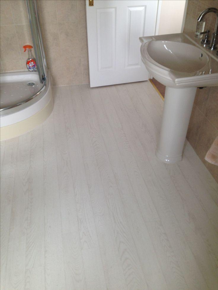 White plank vinyl floor