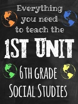 'Unit 1: Intro to World Geography' Lesson Bundle