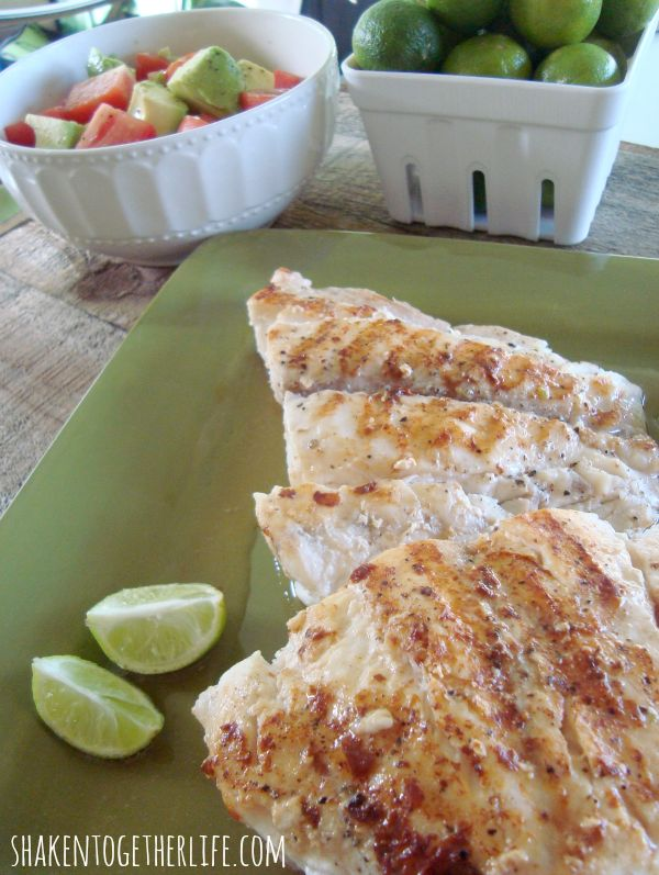Fresh from Florida Key Lime Butter Grilled Grouper at shakentogetherlife.com #spon