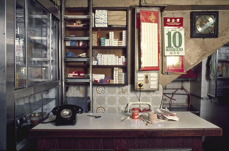 Cafe, Tung Tau Tsuen Road, Kowloon Walled City, 1989. Photo by Greg Girard