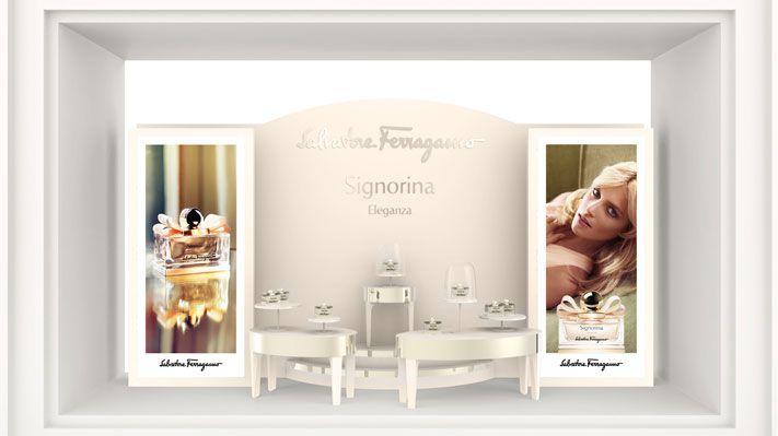 Eleganza Salvatore Ferragamo design Sotano Studio Window