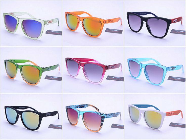 Опт модные солнцезащитные очки Oakley Frogskins Oakley очки Спортивные очки радугу - Taobao
