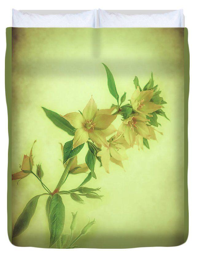 Duvet Cover featuring the photograph Textured Loosestrife Macro by Larysa Koryakina  #HomeIdeas #LarysaKoryakinaFineArtPhotography #DuvetCover #BedroomIdeas #ArtForHome #interiordesing #artforsale #cover #bed #bedroom