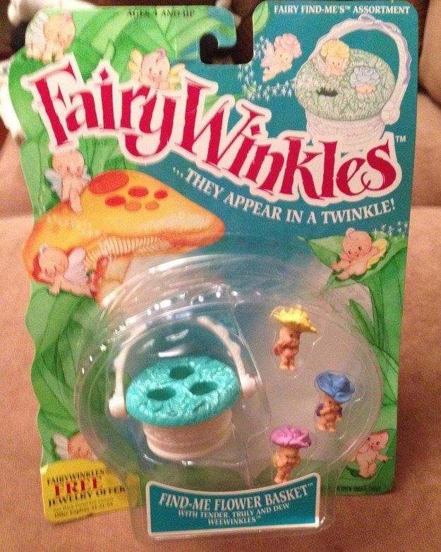 Children of the '90s might remember a simpler time when Fairy Wrinkles reigned the toy kingdom. | 18 Throwback Fairy Winkles Toys Only '90s Kids Will Remember