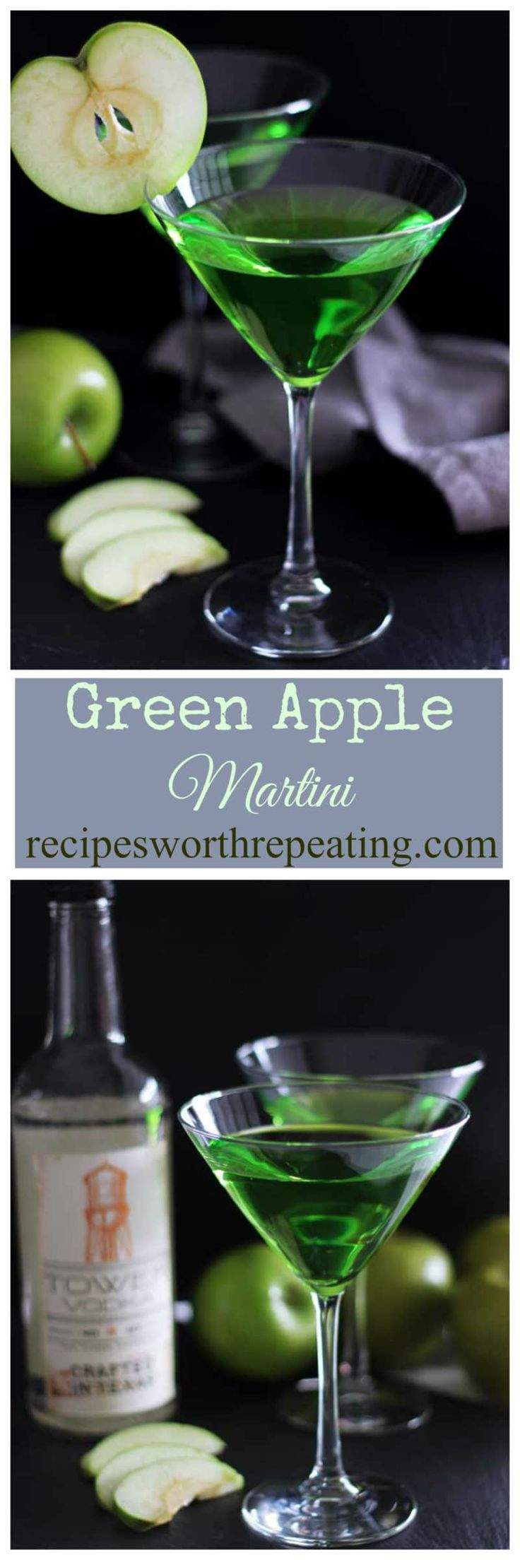 Green Apple Martini | Recipes Worth Repeating | St. Patrick's Day | Holiday | Drink | Cocktail