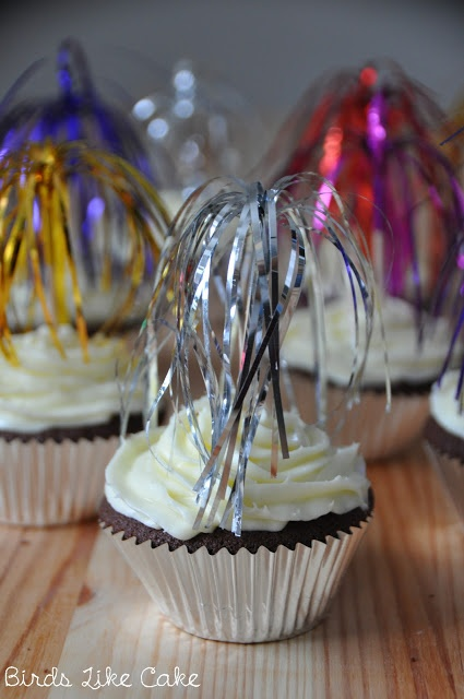 silvester cupcakes - simple, cheap and nice decoration