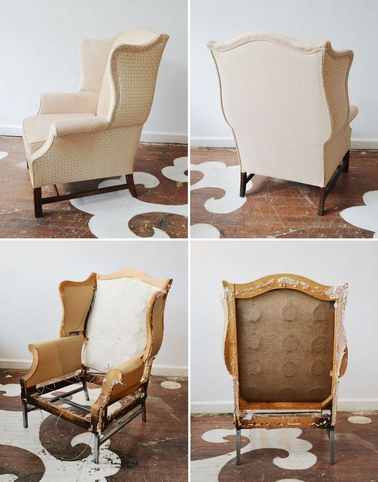 A new year, a new idea and a work in progress…  Co-Lab. The Modern Wing. A vintage wingback with a custom steel base.  Some of our vintage chairs have great lines, but less than perfect gams. Swapping out the old legs for a custom base can seriously modernize a classic chair.