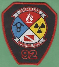 SUNRISE FLORIDA STATION 92 COMPANY FIRE RESCUE PATCH