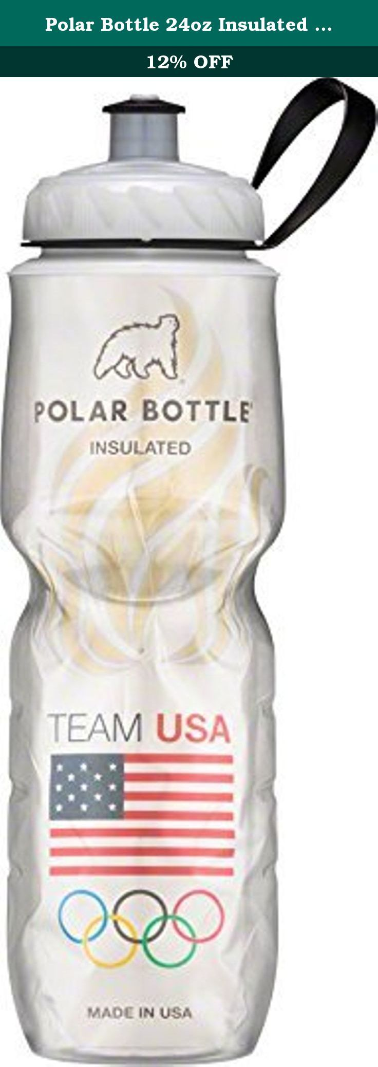 Polar Bottle 24oz Insulated Water Bottle Team USA Flame. Polar Bottle is proud to be an official water bottle licensee of the United States Olympic and Paralympic Teams. For every Team USA Polar Bottle sold, a portion of the proceeds goes to support Olympic and Paralympic athletes across the United States. So go ahead, live your dream and do your part to help light the way for Team USA. Available online only in the United States. The patented Polar Bottle water bottle features an…