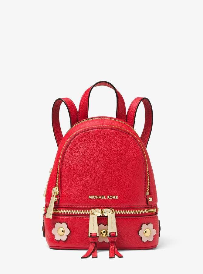 b7d8d3a7c169 Michael Michael Kors Rhea Mini Floral Applique Leather Backpack  #affiliatelink