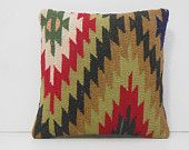 zigzag pillow brown pillow cover beige pillow case knitting pillow cover decorative pillow case western throw pillow kilim pillow sham 14684