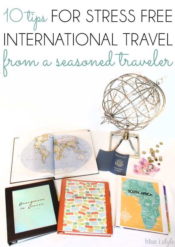 10 Tips for Stress Free International Travel from a seasoned traveler! Follow this advice when planning a vacation abroad, including creating an organized travel binder using the free printable planning pages.