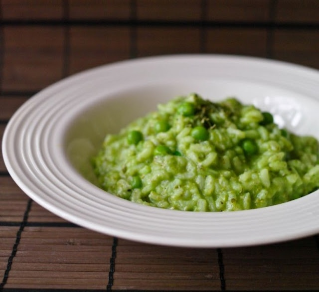 Pesto and Pea Risotto? yes please!