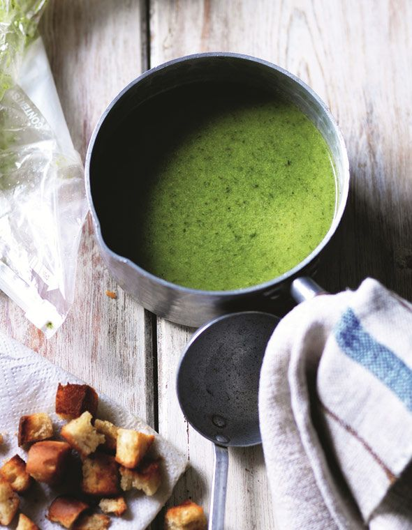 Warmer weather Lettuce Soup. Pretty, green, healthy and delicious.