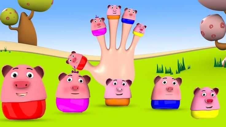 Baby Pigs Finger Family Rhymes - 3D Animation Kids Rhymes for Toddlers B...