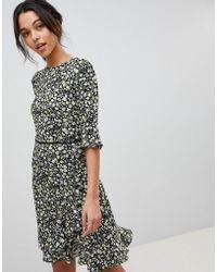 Oasis | Ditsy Floral Print Frill Hem Skater Dress | Lyst