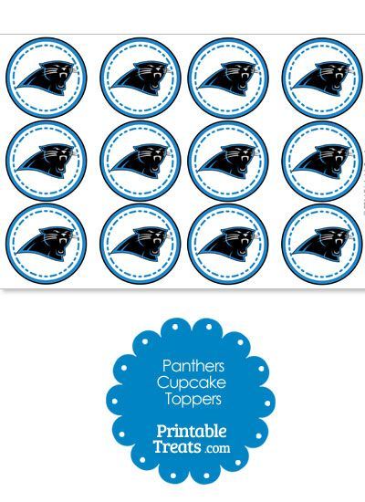 Printable Panthers Logo Cupcake Toppers from ...
