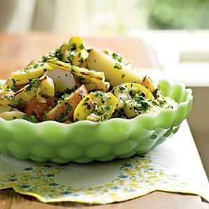 Summer Side Dishes   Potato Salad with Herbs and Grilled Summer Squash   CookingLight.com: Summer Side Dishes, Potatoes Salad, Potato Salad, Salad Recipes, Herbs, Summer Squash Recipes, Cooking Lights, Squashes, Grilled Summer Squash