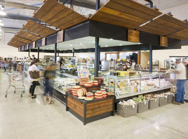 Supermarket design retail design shop interiors for Outdoor food market