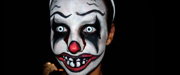 Scary Clown Face Halloween Paint