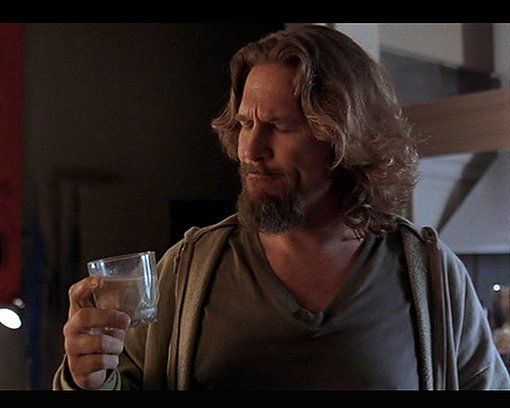 The Dude savoring a White Russian in The Big Lebowski.  8 Celebrity Cocktails: Famous Cocktails in Film and TV