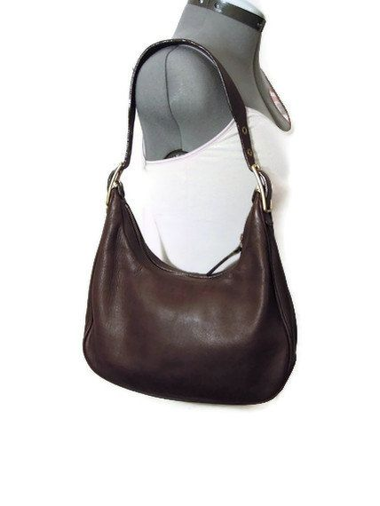1cedeb627 Vintage Coach Brown Leather Hobo Bag Purse 9342   My Style   Vintage coach,  Coach hobo bag, Bags
