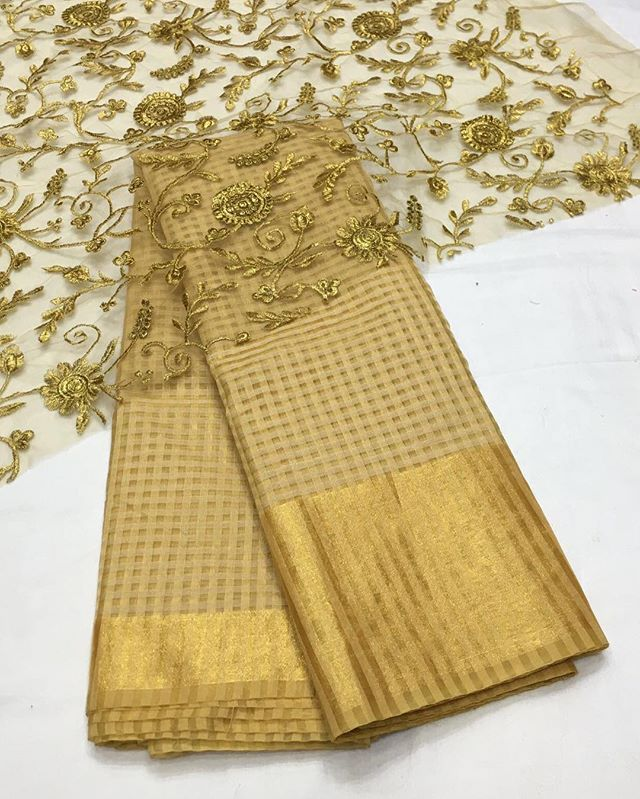 Gold kota banarasi saree with gold emboridery blouse To purchase mail us at houseof2@live.com or whatsapp us on +919833411702 for further detail #sari #saree #sarees #sareeday #sareelove #sequin #silver #traditional #ThePhotoDiary #traditionalwear #india #indian #instagood #indianwear #indooutfits #lacenet #fashion #fashion #fashionblogger #print #houseof2 #indianbride #indianwedding #indianfashion #bride #indianfashionblogger #indianstyle #indianfashion