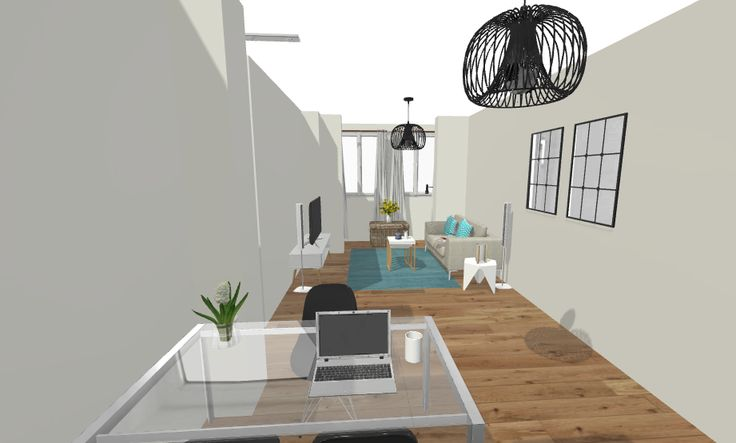 ZONAS COMUNES: Vista de salón desde cocina, zona de office.