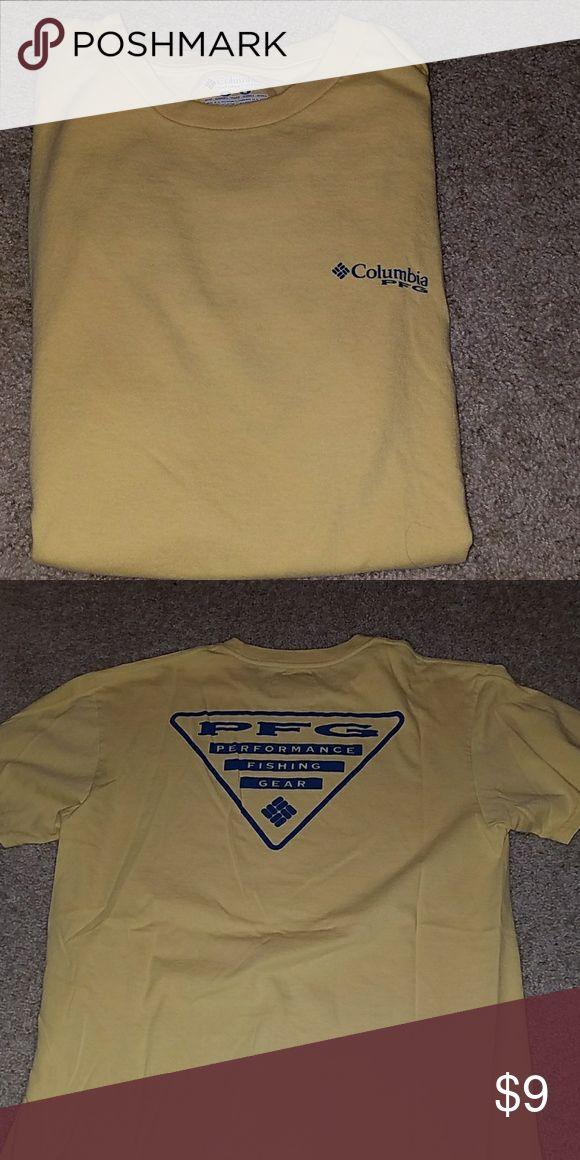 PFG  shirt Yellow and navy new PFG tee Columbia Shirts Tees - Short Sleeve