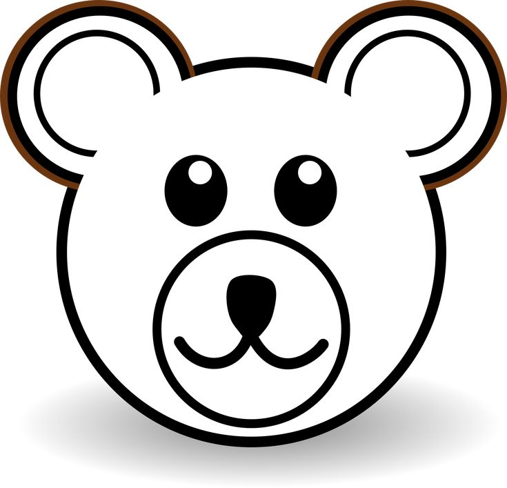 Teddy bear outline clipart 505319 lip art clipart coloring book