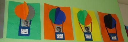 Een luchtballon, leuk als verjaardagskalender