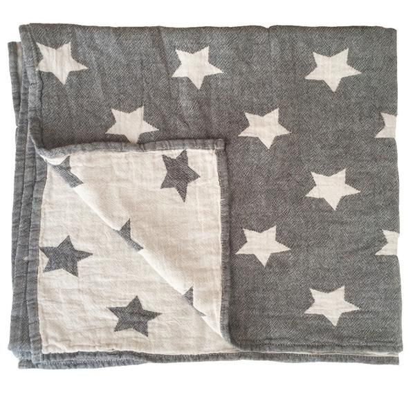 Star Throw Grey + Mint avaliable on the website. £45 from Baby Mori  https://www.claudeandco.co.uk/collections/bedding-blankets/products/star-throw-grey?variant=27587816839