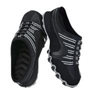 Cushion Walk® Sporty Sneaker Slide in Black