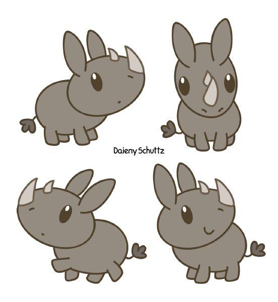 Resultado de imagen para rinoceronte kawaii
