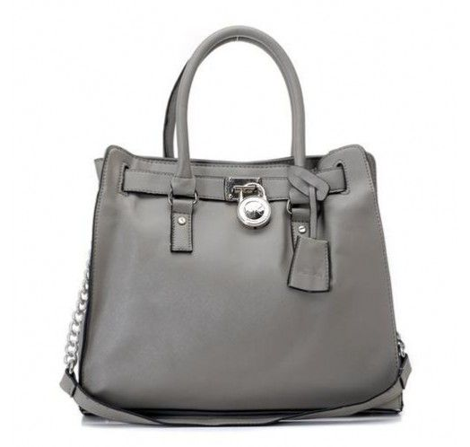 Michael Kors Saffiano Leather Large Grey Totes [mk_0721]