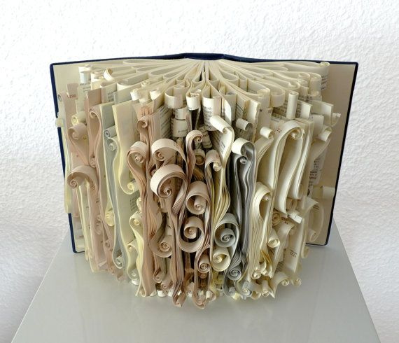 Book Art Sculpture The bride by abadova on Etsy
