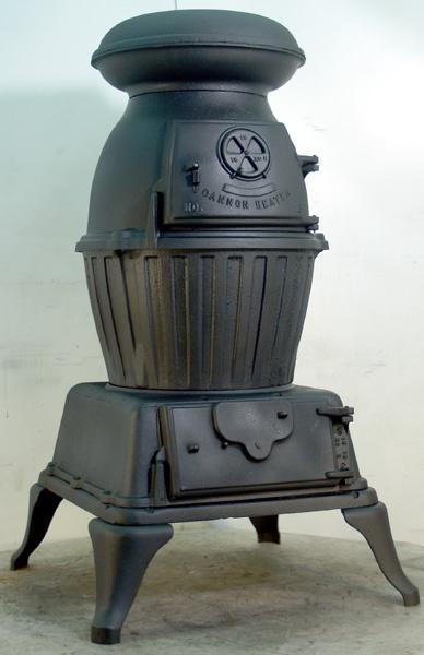 antique cast iron Pot belly stove.