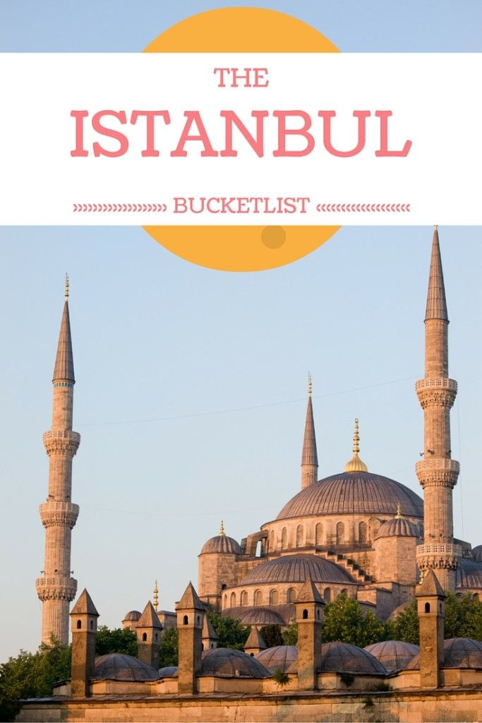 Istanbul Bucket List