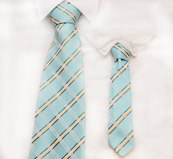 Father and Son Necktie Sets by Appleandivy: Father And Son